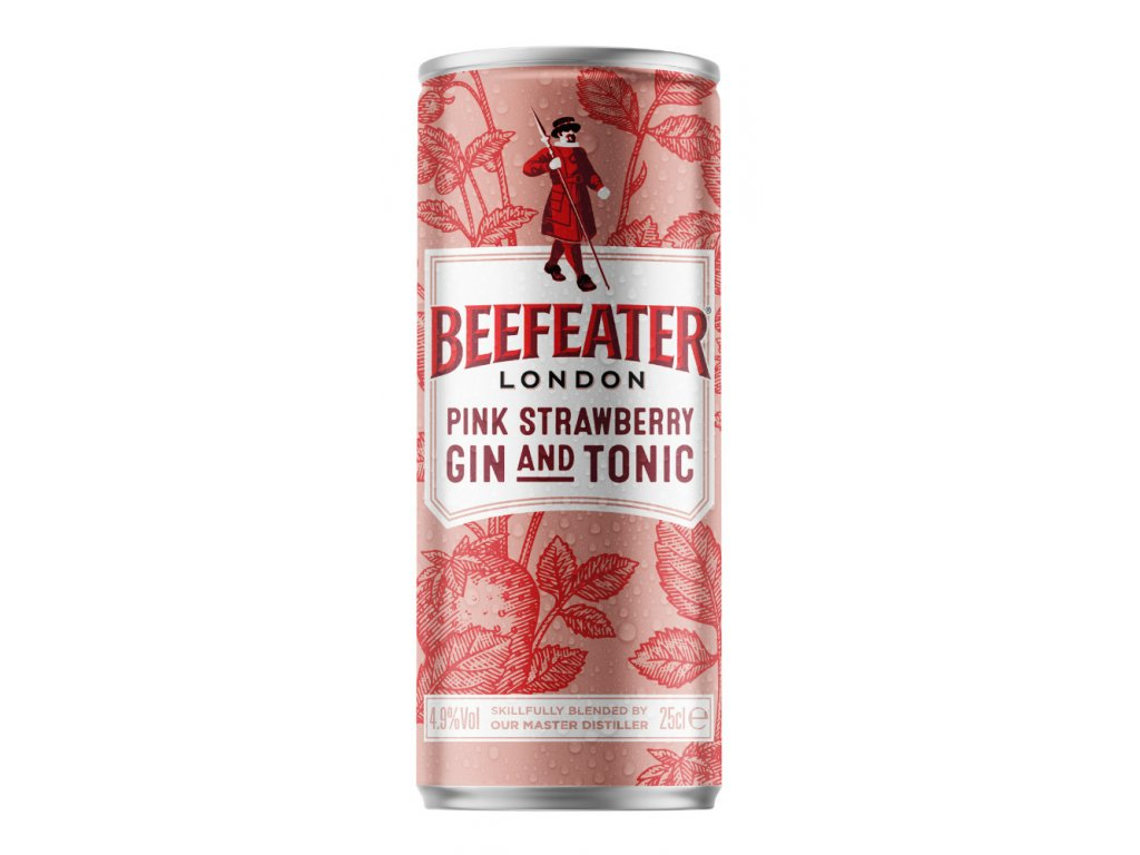 Beefeater London Pink Strawberry Dry Gin and Tonic