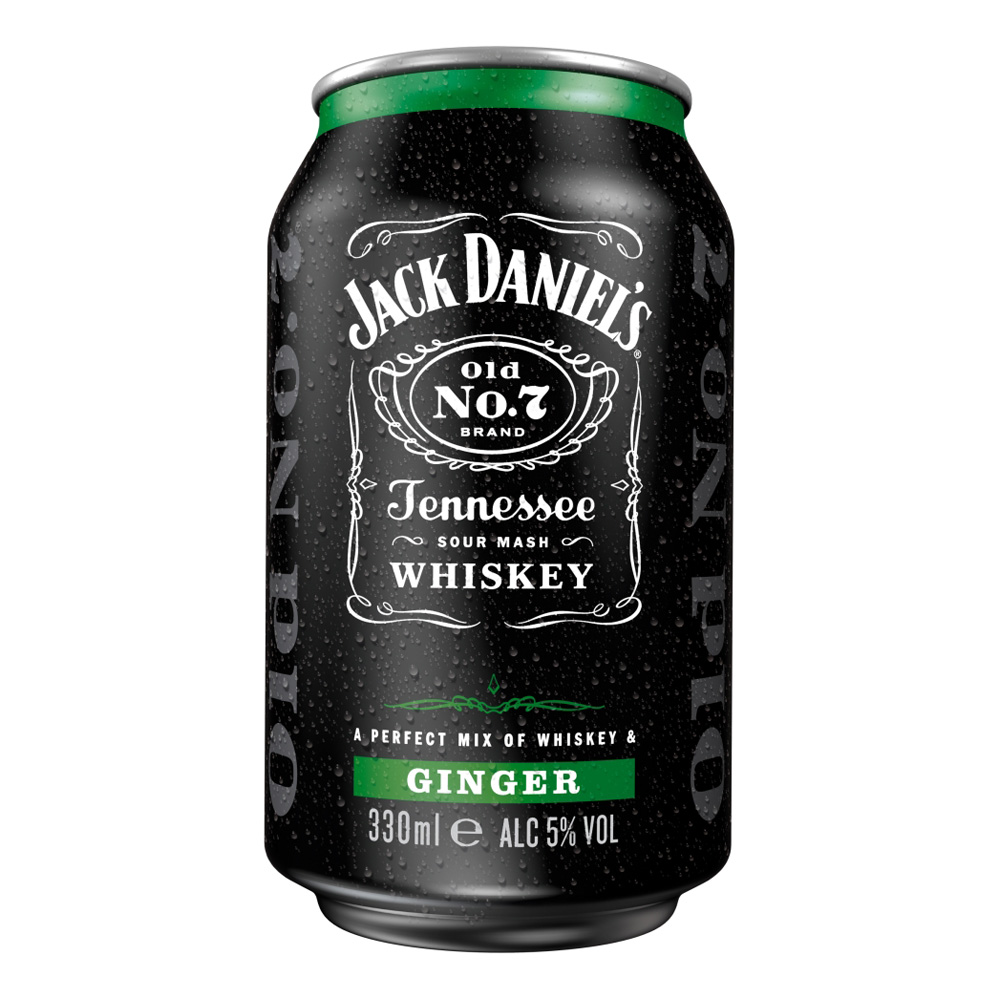 Jack Daniels Tennessee Whiskey Ginger