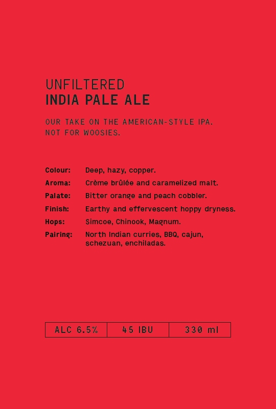 UNFILTERED INDIA PALE ALE