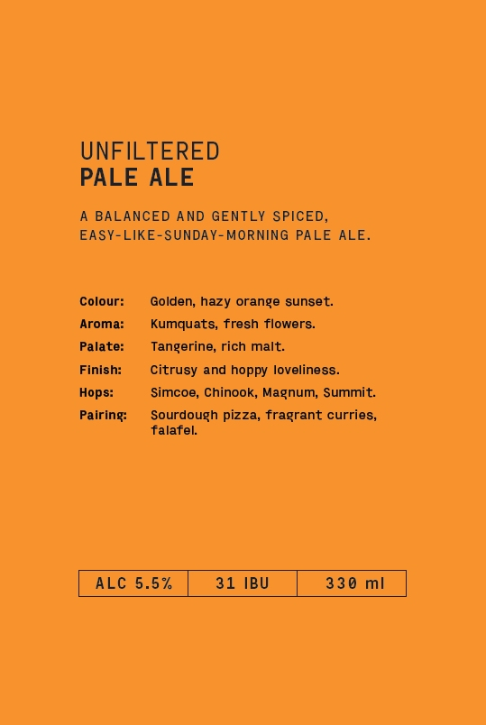 UNFILTERED PALE ALE